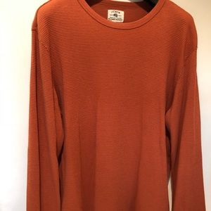 JCrew large orange long sleeve waffle tee